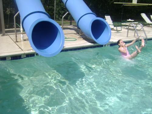 Swimming Pool Tunnel Slides