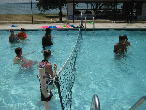 Swimming Pool with Volleyball Net