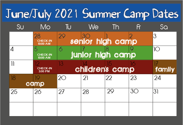 """Featured image for """"Summer 2021 Camp Schedule"""""""